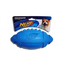 Nerf Squeaker Rubber Football - Blue
