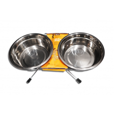 Petface Double Stainless Steel Bowl 1600ml